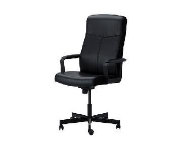 Ikea Malkolm Black Swivel Office Chair