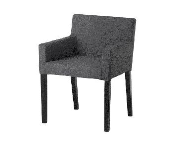 Ikea Nils Armchair in Black & Skiftebo Dark Gray