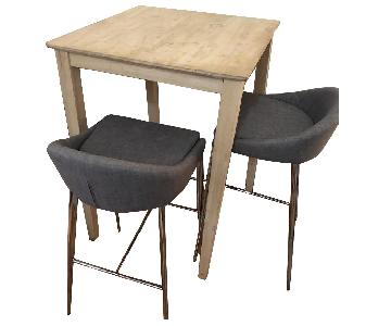 Kingsley Shaker Bar Height Table w/ 2 Barstools