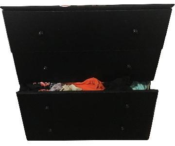 Ikea 4 Drawer Black Dresser