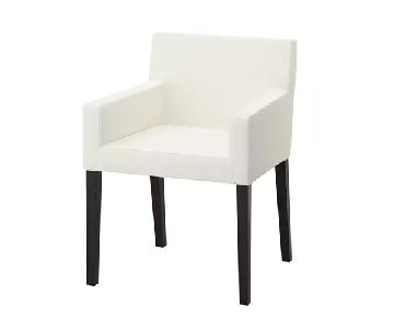 Ikea Nils Armchairs in White