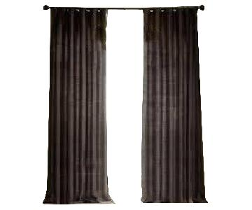 Restoration Hardware Thai Silk Drapes in Chocolate