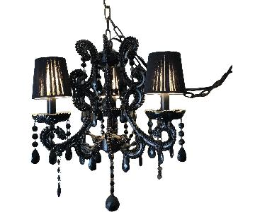 Swarovski Crystal 3-Arm Crystal Chandelier in Black