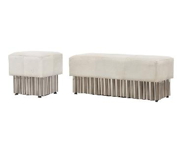 Leather Ottoman & Bench