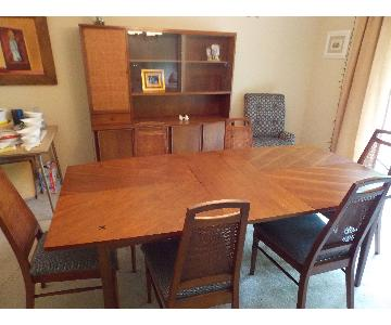 1960's Danish Modern Dining Room Table w/ 6 Chairs