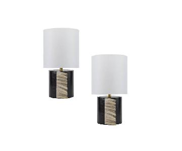 Black Leather Table Lamps