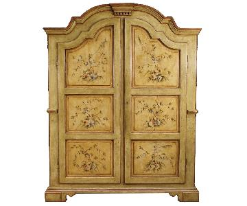 20th Century Italian Wardrobe in Lacquered & Painted Wood