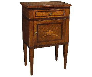 Louis XVI Style Italian Inlaid Bedside Tables