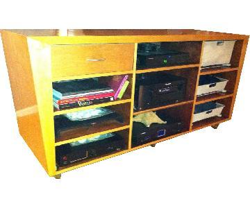 Custom Made Perch Wood Entertainment Cabinet