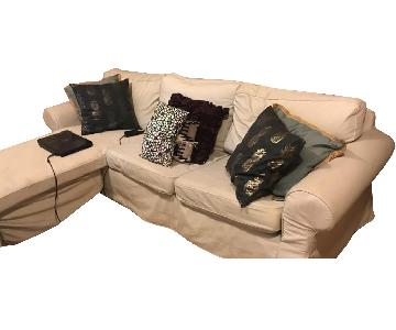 Beige 3-Piece Corner Sectional Sofa