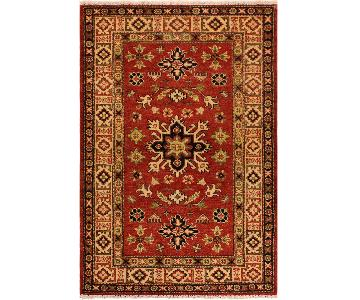 Kazak Randolph Red/Ivory Hand-Knotted Wool Rug