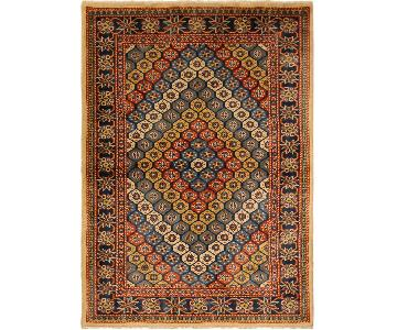 Sherwan Alona Blue/Ivory Hand-Knotted Wool Rug