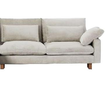 West Elm Harmony Sofa w/ Right Arm