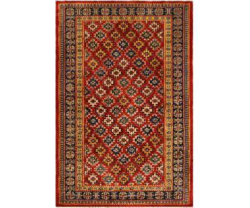 Sherwan Angila Red/Blue Hand-Knotted Wool Rug