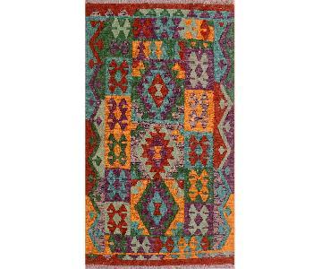 Kilim Arya Lyle Red/Green Wool Rug
