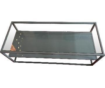 CB2 Metal & Glass Coffee Table