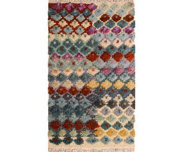 Moroccan High-Low Pile Arya Woodrow Gray/Blue Wool Rug
