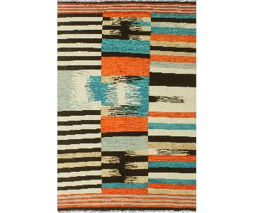 Kilim Arya Mona Black/Ivory Wool Rug
