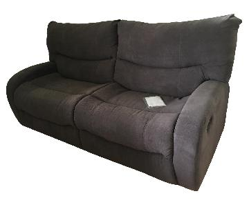 Palliser 2-Seat Recliner Sofa in Soft Brown Fabric