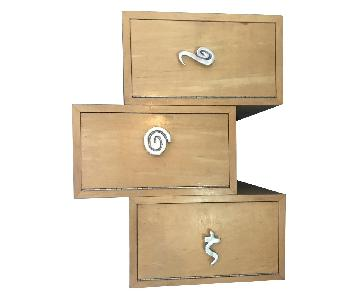 Custom Made Perch Wood Wall Boxes w/ Doors