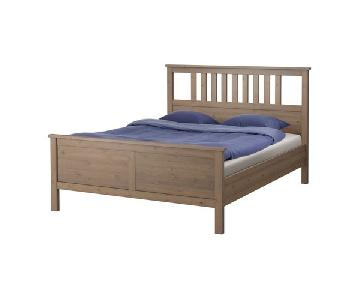 Ikea Hemnes Gray Brown Queen Bed Frame