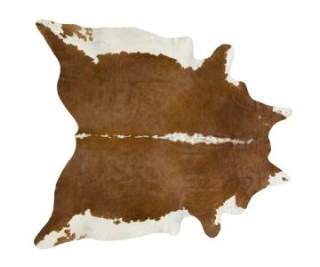 One Kings Lane Natural Brown/White Cowhide Rug