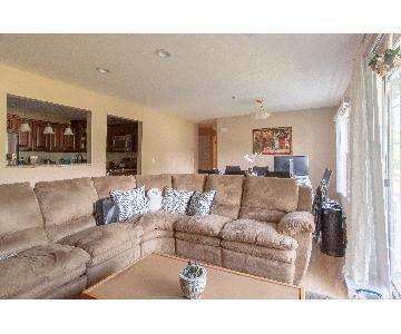 DeCoro 3-Piece Microfiber Sectional Sofa