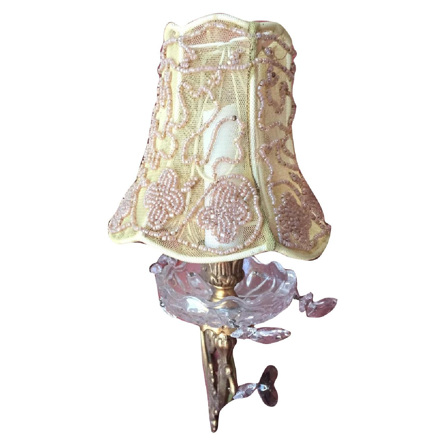 Wall Sconces w/ Gold Lacy Shades