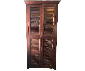 Custom Armoire w/ Louvered Doors