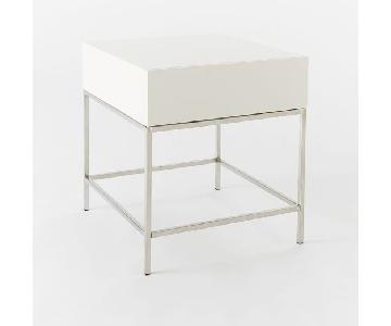 West Elm Lacquer Side Table