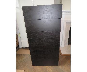 Design Within Reach Oak Wenge 5-Drawer Dresser