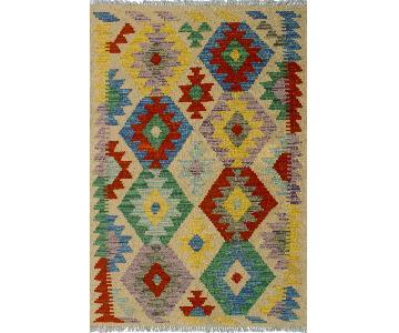 Kilim Arya Dawn Ivory/Blue Wool Rug