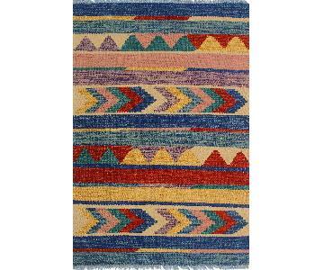 Kilim Arya Weston Blue/Rust Wool Rug