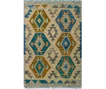 Kilim Arya Lou Gray/Blue Wool Rug