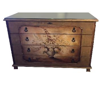 Painted Dresser w/ Glass Top