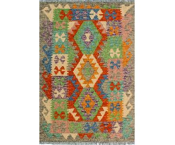 Kilim Arya Sixta Gray/Rust Wool Rug