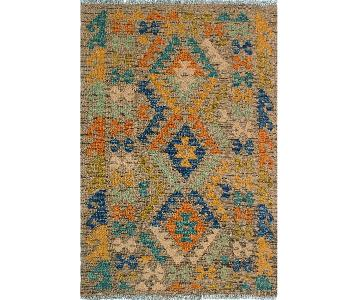 Kilim Arya Phillis Brown/Gold Wool Rug