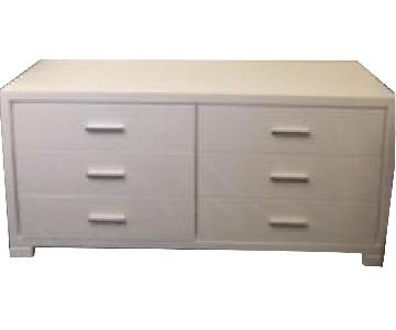 Star International White Lacquer Dresser