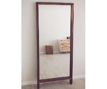 Handmade Solid Walnut Floor Mirror