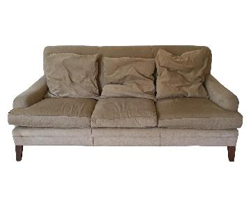Anthropologie Beige 3 Seater Sofa