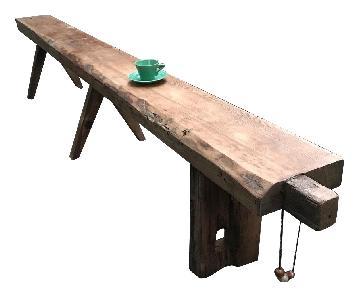 Breukelen Tafel Longleaf Pine Oversized Bench