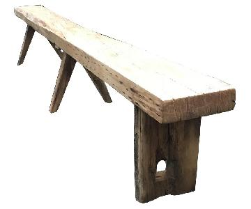 Breukelen Tafel Old Growth Longleaf Pine Oversized Bench
