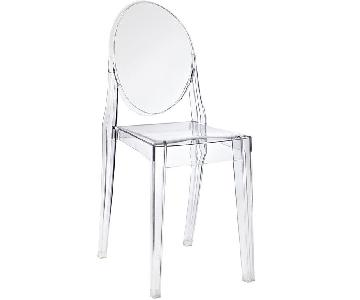 LexMod Clear Acrylic Casper Dining Chairs