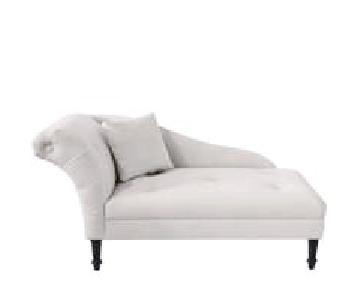Joss & Main Elspeth Velvet Chaise in White