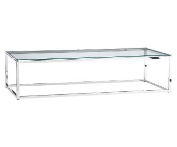 CB2 Glass Coffee Table