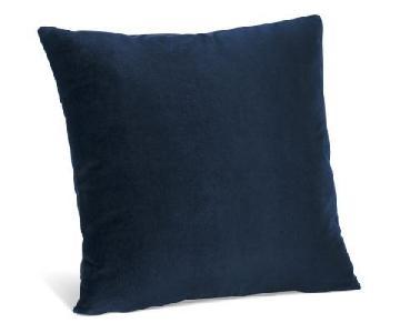 Room & Board Navy Velvet Pillows