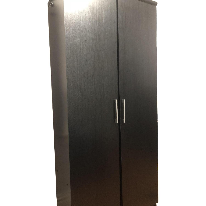 Black Wood 2 Door Armoire ...