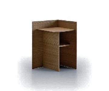 Design Within Reach Punt Spain Solid Walnut Wood End Table