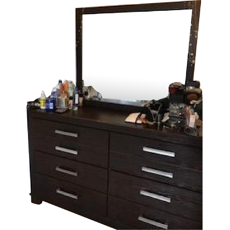 Picture of: Ashley Corraya Cherry Brown Dresser W Mirror Aptdeco