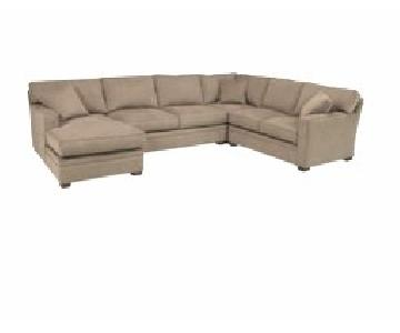Macy's Driscoll 4-Piece Chaise Sectional Sofa